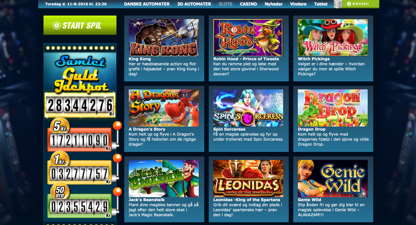 Jackpot Holiday slot - vind stort ved at spille online spilleautomater